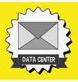 data center message envelope vector image