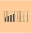 diagram growth dark grey set icon vector image vector image