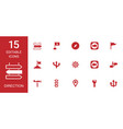 direction icons vector image vector image