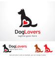 dog lovers logo template design vector image