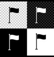 flag icon isolated on black white and transparent vector image