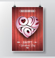 flyer on a valentines day vector image