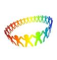 friendship circle vector image
