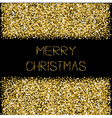 Gold sparkles glitter frame Merry Christmas text vector image