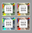 graphic sale pop art abstract collage pattern vector image