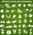 GreenFruitsVegetables vector image vector image