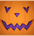 halloween pumpkin background pumpkin scary face vector image vector image