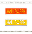 halloween stylized car license plate vector image vector image