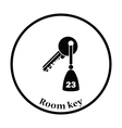 Hotel room key icon vector image vector image