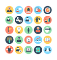 Human Resources Colored Icons 3 vector image vector image