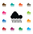 isolated raindrop icon cloudy element can vector image vector image
