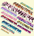 isometric hashtag - beautiful internet blogging vector image