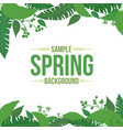 light shade spring background with tropical leaves vector image