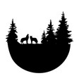 logo wolves vector image vector image