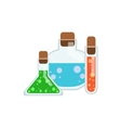 Magic Potions In Test Tubes vector image