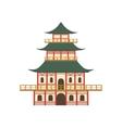 Pagoda Japanese Culture Symbol vector image