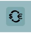 Pale blue dollar euro icon vector image vector image