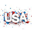 Paper USA confetti sign vector image
