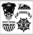 police badges and design elements - set vector image vector image