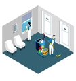 Professional Cleaning Isometric Design vector image