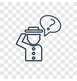 question concept linear icon isolated on vector image
