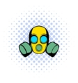 Respirator icon comics style vector image vector image