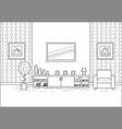 room interior in line art flat design vector image vector image