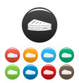 sandwich icons set color vector image