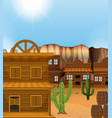 scene with western style buildings vector image