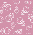 seamless outline beetroot vegetable pattern for vector image vector image