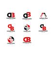 set initial letter db logo template design vector image vector image
