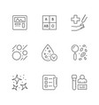 set line icons hematology vector image