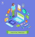 Set of 3d isometric design vector image vector image