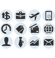 set of business icons style material design vector image vector image