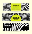 set of horizontal lime banners with black stripes vector image vector image