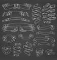 set of realistic transparent ribbons element of vector image