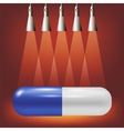 Single Blue Pill vector image