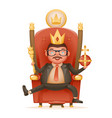 successful businessman cute cheerful king crown vector image vector image