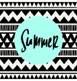 Summer Tribal Design vector image vector image