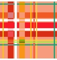 Tartan orange seamless pattern vector image vector image