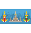 Thailand Giants and Wat Arun or Temple of Dawn vector image vector image