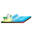 Tsunami water Wave vector image vector image