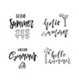 Unique Summer Lettering vector image vector image