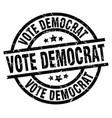 vote democrat round grunge black stamp vector image vector image