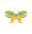 wonderful abstract butterfly with green and orange vector image vector image