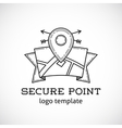 Safe Shield Point Abstract Logo Template vector image