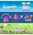 Air Travel Horizontal Banners Set vector image