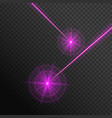 pink laser beams vector image