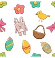 Easter Elements Seamless Texture vector image