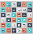 Flat Seo Icon set vector image